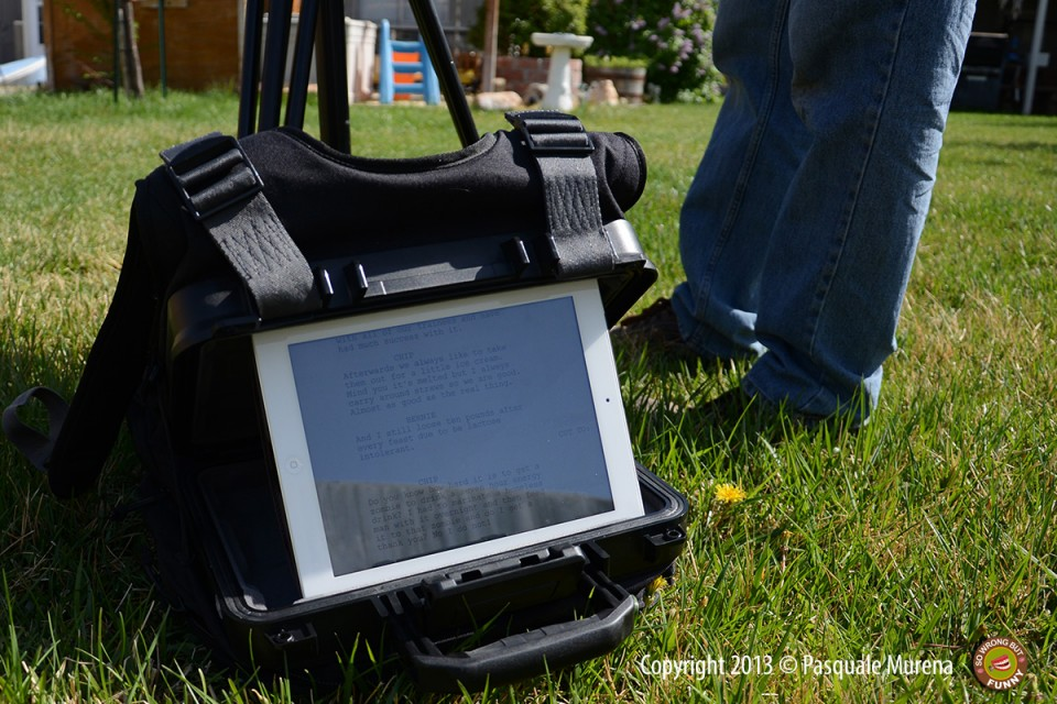 Chip & Bernie's Zomance script protect by my Pelican backpack.