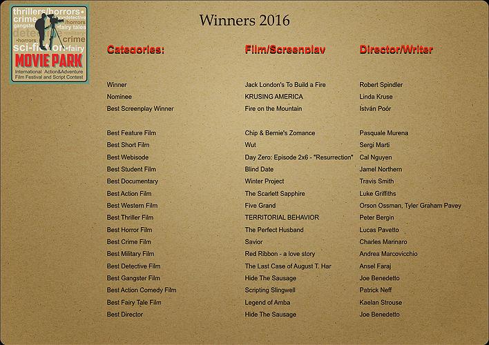 AAIFF -winners